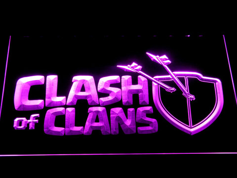 Clash of Clans LED Neon Sign - Purple - SafeSpecial