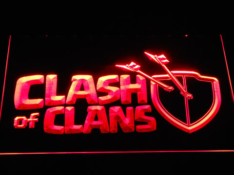 Clash of Clans LED Neon Sign - Red - SafeSpecial