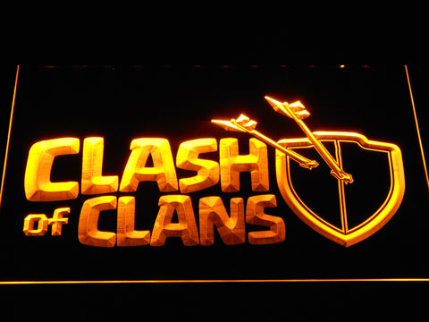 Clash of Clans LED Neon Sign - Yellow - SafeSpecial