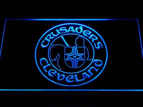 Cleveland Crusaders LED Neon Sign - Legacy Edition - Blue - SafeSpecial