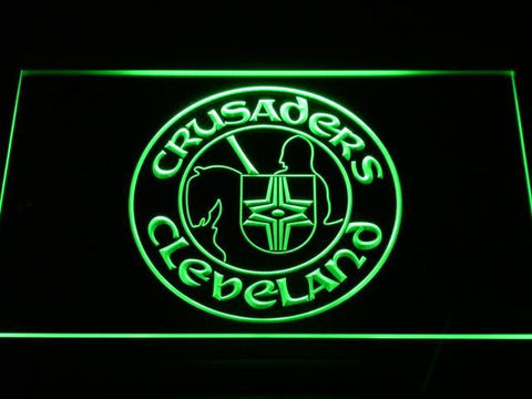 Cleveland Crusaders LED Neon Sign - Legacy Edition - Green - SafeSpecial