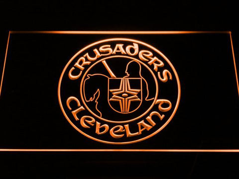 Cleveland Crusaders LED Neon Sign - Legacy Edition - Orange - SafeSpecial