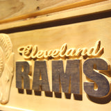 Cleveland Rams 1941-1942 Wooden Sign - Legacy Edition - - SafeSpecial