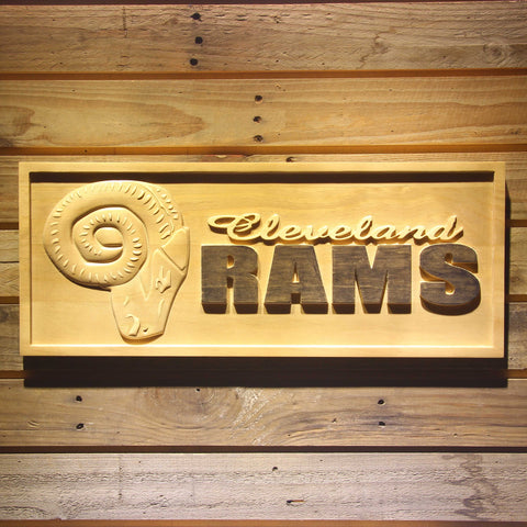 Cleveland Rams 1941-1942 Wooden Sign - Legacy Edition - Small - SafeSpecial