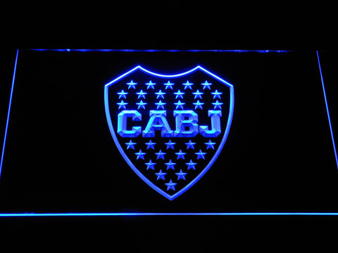 Club Atletico Boca Juniors Crest LED Neon Sign - Blue - SafeSpecial