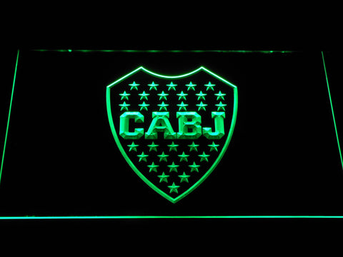 Club Atletico Boca Juniors Crest LED Neon Sign - Green - SafeSpecial