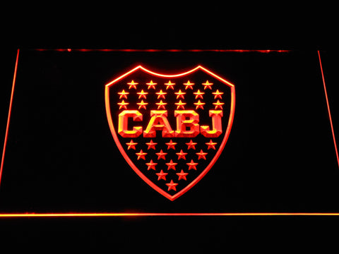 Club Atletico Boca Juniors Crest LED Neon Sign - Orange - SafeSpecial