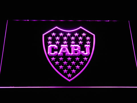 Club Atletico Boca Juniors Crest LED Neon Sign - Purple - SafeSpecial