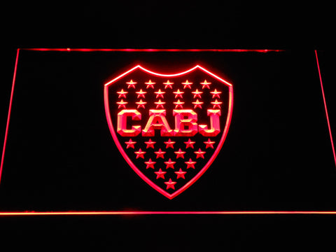 Club Atletico Boca Juniors Crest LED Neon Sign - Red - SafeSpecial