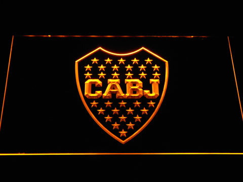 Club Atletico Boca Juniors Crest LED Neon Sign - Yellow - SafeSpecial