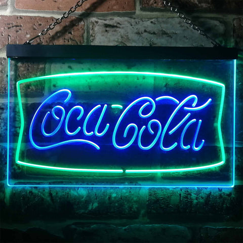 Image of Coca Cola Banner 2 Neon-Like LED Sign - Dual Color