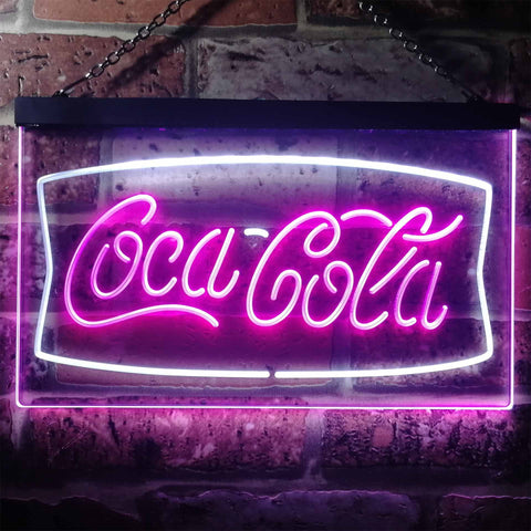 Coca Cola Banner 2 Neon-Like LED Sign - Dual Color
