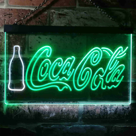 Image of Coca Cola Bottle and Logo Neon-Like LED Sign - Dual Color