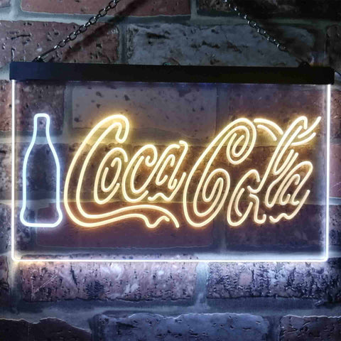 Coca Cola Bottle and Logo Neon-Like LED Sign - Dual Color