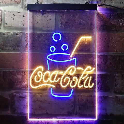 Coca Cola Cup with Bubbles Neon-Like LED Sign - Dual Color