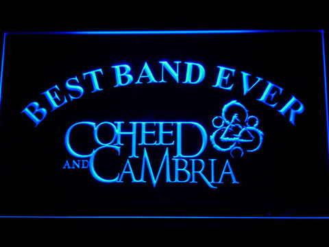 Image of Coheed and Cambria Best Band Ever LED Neon Sign - Blue - SafeSpecial