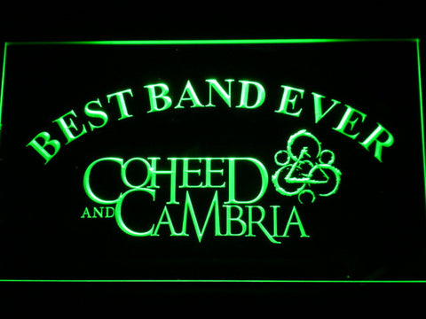 Image of Coheed and Cambria Best Band Ever LED Neon Sign - Green - SafeSpecial