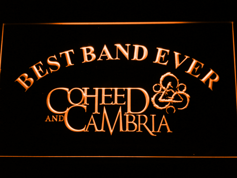 Image of Coheed and Cambria Best Band Ever LED Neon Sign - Orange - SafeSpecial