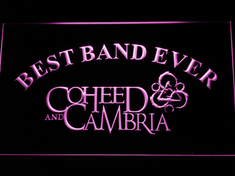 Image of Coheed and Cambria Best Band Ever LED Neon Sign - Purple - SafeSpecial
