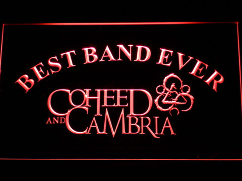 Image of Coheed and Cambria Best Band Ever LED Neon Sign - Red - SafeSpecial