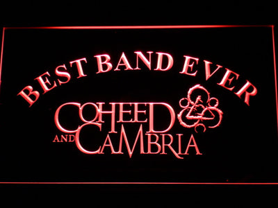Coheed and Cambria Best Band Ever LED Neon Sign - Red - SafeSpecial
