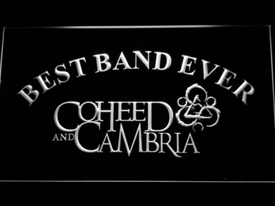 Coheed and Cambria Best Band Ever LED Neon Sign - White - SafeSpecial