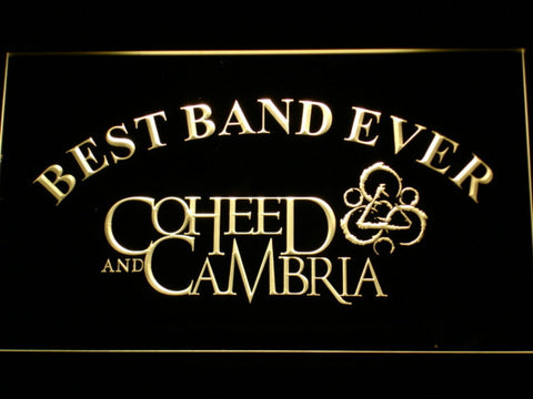 Image of Coheed and Cambria Best Band Ever LED Neon Sign - Yellow - SafeSpecial