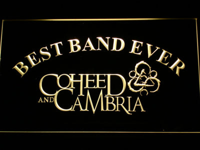 Coheed and Cambria Best Band Ever LED Neon Sign - Yellow - SafeSpecial