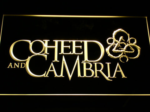 Image of Coheed and Cambria LED Neon Sign - Yellow - SafeSpecial