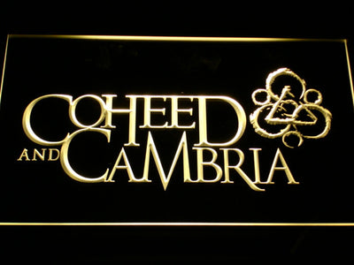 Coheed and Cambria LED Neon Sign - Yellow - SafeSpecial