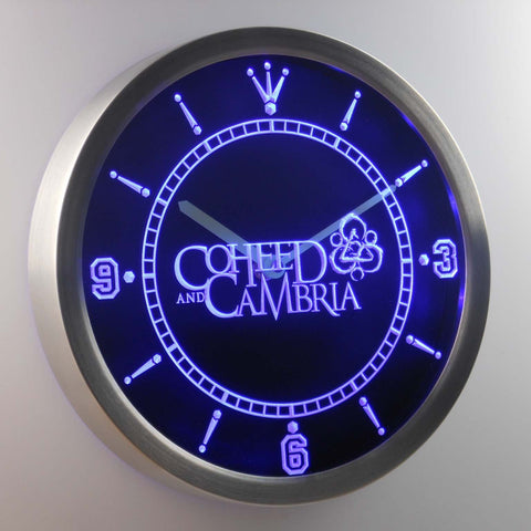 Image of Coheed Cambria LED Neon Wall Clock - Blue - SafeSpecial