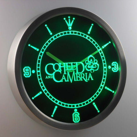 Image of Coheed Cambria LED Neon Wall Clock - Green - SafeSpecial
