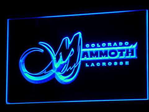 Colorado Mammoth LED Neon Sign - Blue - SafeSpecial