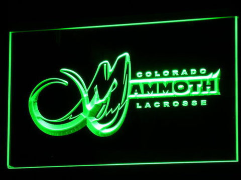 Colorado Mammoth LED Neon Sign - Green - SafeSpecial