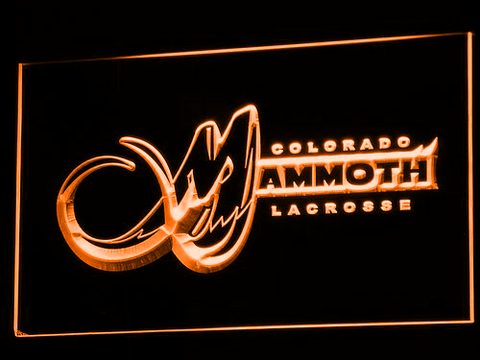Colorado Mammoth LED Neon Sign - Orange - SafeSpecial