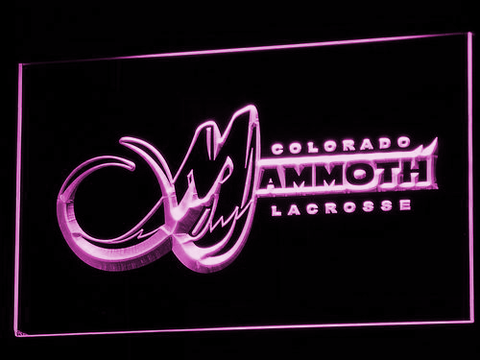 Colorado Mammoth LED Neon Sign - Purple - SafeSpecial