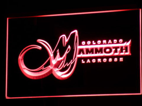 Colorado Mammoth LED Neon Sign - Red - SafeSpecial