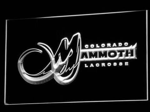 Colorado Mammoth LED Neon Sign - White - SafeSpecial
