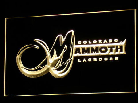 Colorado Mammoth LED Neon Sign - Yellow - SafeSpecial