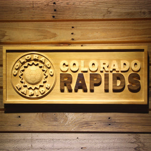 Colorado Rapids Wooden Sign - Legacy Edition - Small - SafeSpecial