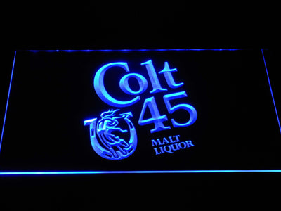 Colt 45 LED Neon Sign - Blue - SafeSpecial