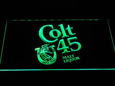 Colt 45 LED Neon Sign - Green - SafeSpecial