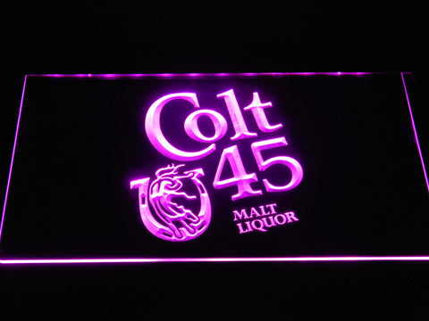 Image of Colt 45 LED Neon Sign - Purple - SafeSpecial