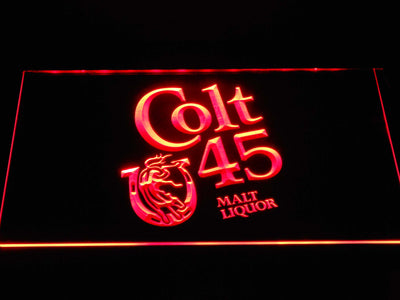 Colt 45 LED Neon Sign - Red - SafeSpecial