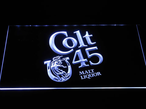 Image of Colt 45 LED Neon Sign - White - SafeSpecial