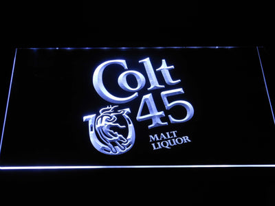Colt 45 LED Neon Sign - White - SafeSpecial