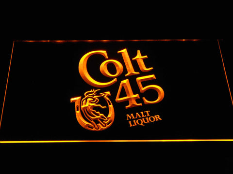 Image of Colt 45 LED Neon Sign - Yellow - SafeSpecial