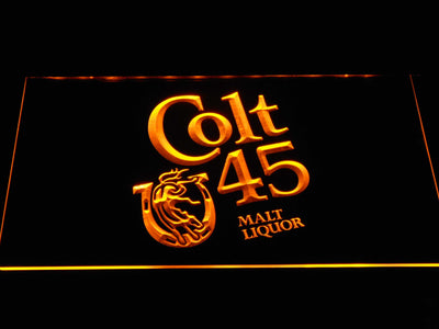 Colt 45 LED Neon Sign - Yellow - SafeSpecial