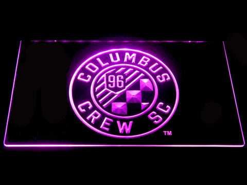 Image of Columbus Crew SC LED Neon Sign - Purple - SafeSpecial