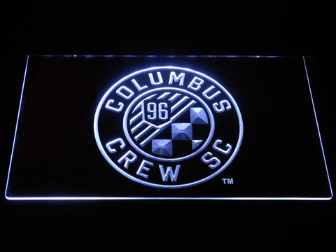 Image of Columbus Crew SC LED Neon Sign - White - SafeSpecial